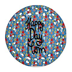 Happy Mothers Day Celebration Round Filigree Ornament (Two Sides)