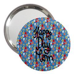 Happy Mothers Day Celebration 3  Handbag Mirrors
