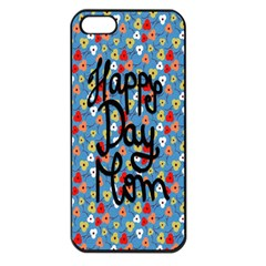 Happy Mothers Day Celebration Apple iPhone 5 Seamless Case (Black)