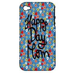 Happy Mothers Day Celebration Apple iPhone 4/4S Hardshell Case (PC+Silicone)