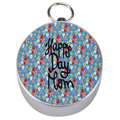 Happy Mothers Day Celebration Silver Compasses