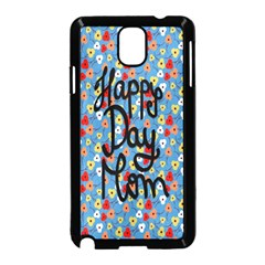 Happy Mothers Day Celebration Samsung Galaxy Note 3 Neo Hardshell Case (Black)