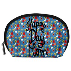 Happy Mothers Day Celebration Accessory Pouches (Large)