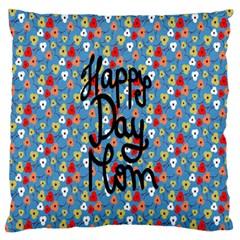 Happy Mothers Day Celebration Large Flano Cushion Case (One Side)