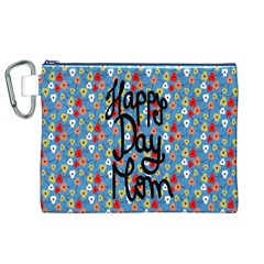 Happy Mothers Day Celebration Canvas Cosmetic Bag (XL)