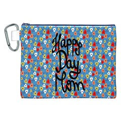 Happy Mothers Day Celebration Canvas Cosmetic Bag (XXL)