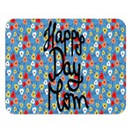 Happy Mothers Day Celebration Double Sided Flano Blanket (Large)  80 x60 Blanket Front