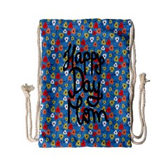 Happy Mothers Day Celebration Drawstring Bag (small)