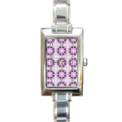 Pretty Pink Floral Purple Seamless Wallpaper Background Rectangle Italian Charm Watch