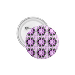Pretty Pink Floral Purple Seamless Wallpaper Background 1.75  Buttons