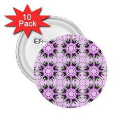 Pretty Pink Floral Purple Seamless Wallpaper Background 2.25  Buttons (10 pack)