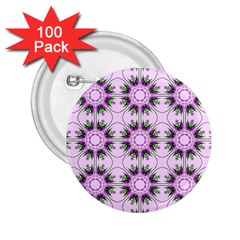 Pretty Pink Floral Purple Seamless Wallpaper Background 2.25  Buttons (100 pack)