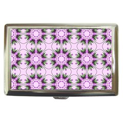 Pretty Pink Floral Purple Seamless Wallpaper Background Cigarette Money Cases