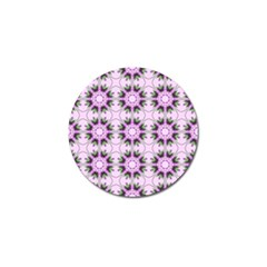 Pretty Pink Floral Purple Seamless Wallpaper Background Golf Ball Marker (10 pack)
