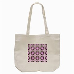 Pretty Pink Floral Purple Seamless Wallpaper Background Tote Bag (cream)