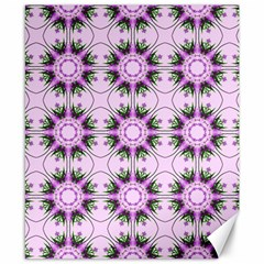 Pretty Pink Floral Purple Seamless Wallpaper Background Canvas 8  X 10