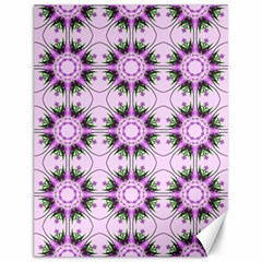 Pretty Pink Floral Purple Seamless Wallpaper Background Canvas 12  x 16
