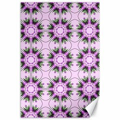 Pretty Pink Floral Purple Seamless Wallpaper Background Canvas 12  x 18