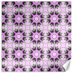 Pretty Pink Floral Purple Seamless Wallpaper Background Canvas 16  X 16