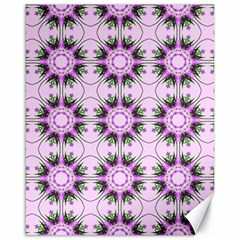 Pretty Pink Floral Purple Seamless Wallpaper Background Canvas 16  X 20