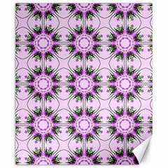 Pretty Pink Floral Purple Seamless Wallpaper Background Canvas 20  X 24