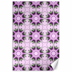 Pretty Pink Floral Purple Seamless Wallpaper Background Canvas 24  x 36
