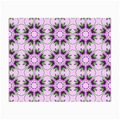 Pretty Pink Floral Purple Seamless Wallpaper Background Small Glasses Cloth (2-Side)