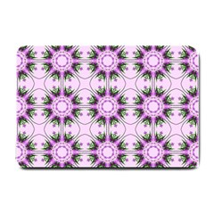 Pretty Pink Floral Purple Seamless Wallpaper Background Small Doormat