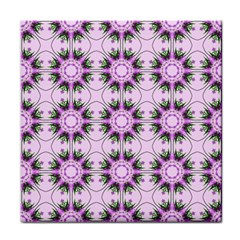 Pretty Pink Floral Purple Seamless Wallpaper Background Face Towel