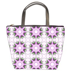 Pretty Pink Floral Purple Seamless Wallpaper Background Bucket Bags