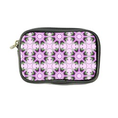 Pretty Pink Floral Purple Seamless Wallpaper Background Coin Purse
