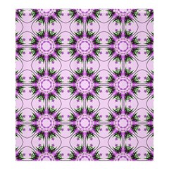 Pretty Pink Floral Purple Seamless Wallpaper Background Shower Curtain 66  x 72  (Large)