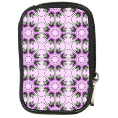 Pretty Pink Floral Purple Seamless Wallpaper Background Compact Camera Cases