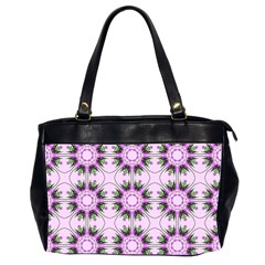 Pretty Pink Floral Purple Seamless Wallpaper Background Office Handbags (2 Sides)