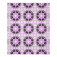 Pretty Pink Floral Purple Seamless Wallpaper Background Shower Curtain 60  x 72  (Medium)