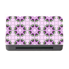 Pretty Pink Floral Purple Seamless Wallpaper Background Memory Card Reader with CF