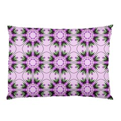 Pretty Pink Floral Purple Seamless Wallpaper Background Pillow Case (two Sides)