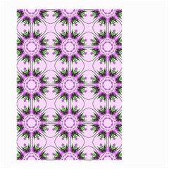 Pretty Pink Floral Purple Seamless Wallpaper Background Small Garden Flag (two Sides)