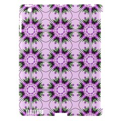 Pretty Pink Floral Purple Seamless Wallpaper Background Apple iPad 3/4 Hardshell Case (Compatible with Smart Cover)