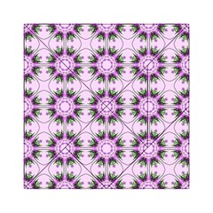 Pretty Pink Floral Purple Seamless Wallpaper Background Acrylic Tangram Puzzle (6  x 6 )