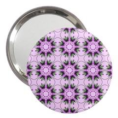 Pretty Pink Floral Purple Seamless Wallpaper Background 3  Handbag Mirrors