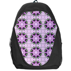 Pretty Pink Floral Purple Seamless Wallpaper Background Backpack Bag