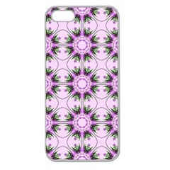 Pretty Pink Floral Purple Seamless Wallpaper Background Apple Seamless Iphone 5 Case (clear)