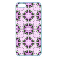 Pretty Pink Floral Purple Seamless Wallpaper Background Apple Seamless iPhone 5 Case (Color)