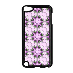 Pretty Pink Floral Purple Seamless Wallpaper Background Apple Ipod Touch 5 Case (black)