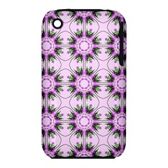 Pretty Pink Floral Purple Seamless Wallpaper Background iPhone 3S/3GS