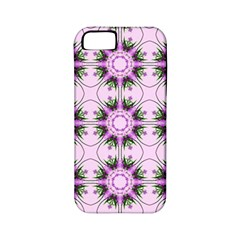 Pretty Pink Floral Purple Seamless Wallpaper Background Apple iPhone 5 Classic Hardshell Case (PC+Silicone)