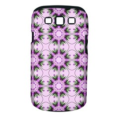 Pretty Pink Floral Purple Seamless Wallpaper Background Samsung Galaxy S Iii Classic Hardshell Case (pc+silicone)