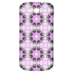 Pretty Pink Floral Purple Seamless Wallpaper Background Samsung Galaxy S3 S III Classic Hardshell Back Case