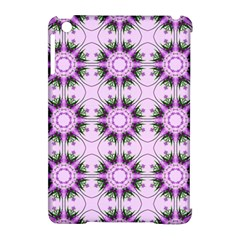 Pretty Pink Floral Purple Seamless Wallpaper Background Apple iPad Mini Hardshell Case (Compatible with Smart Cover)